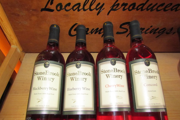 Local wine from Stone Brook Winery in Camp Springs