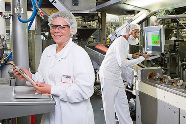 Workers package Mentos candies at Perfetti Van Melle plant in Erlanger