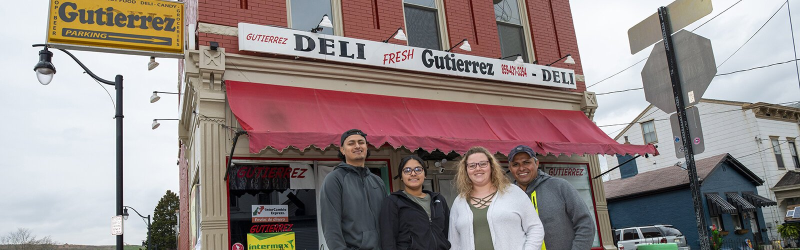 Gutierrez Deli has become a gathering place and resource for Covington's Latino residents. The Gutierrez family: Sergio, Evelyn, Courtney Case and Claudio.