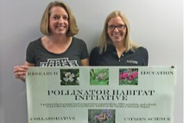 Denice Robertson and Kristy Hopfensperger, NKU biology faculty, lead the pollinator initiative.