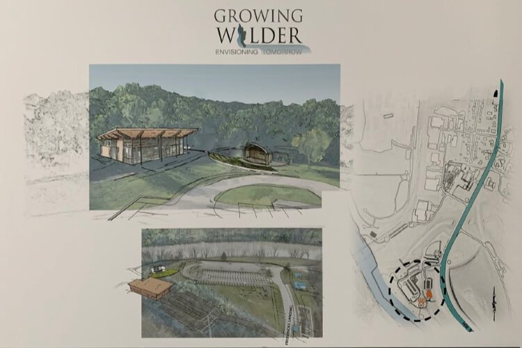 Elevar Design created these renderings of the proposed amphitheater and restaurant at Frederick's Landing.