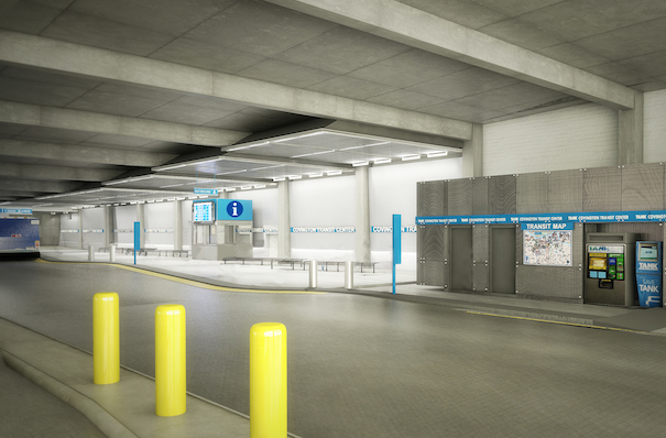 The renovated Covington Transit Center is scheduled to open soon
