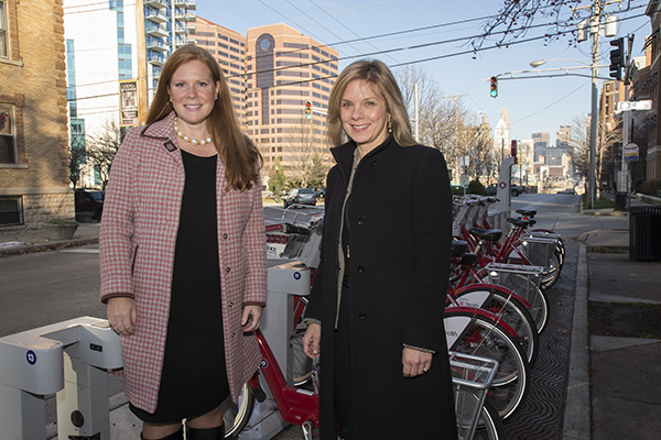 The Greater Cincinnati Foundation's CEO Ellen Katz (right) and NKY Fund Officer Laura Menge