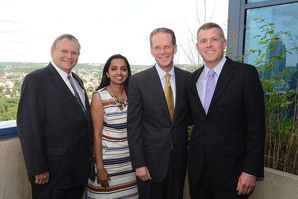 (L-R) myNKY leaders William Scheyer, Sharmili Reddy, Geoffrey Mearns and  A.J. Schaeffer