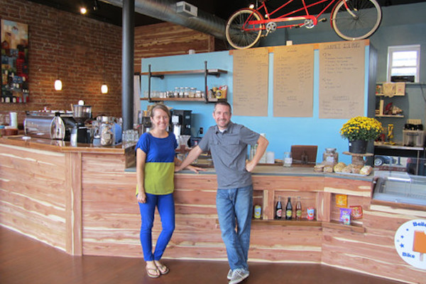 Justin and Emily, husband-and-wife owners of Carabello Coffee, are also active residents of Newport's historic East Row community