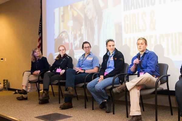 Events featured panel discussion with women working in manufacturing careers