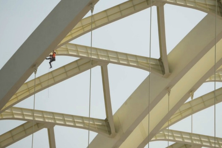 Daniel Carter Beard Bridge rope inspection