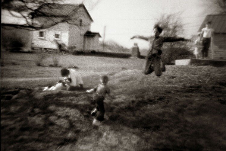 """Boys Flying,"" Amesville, Ohio, 1976"