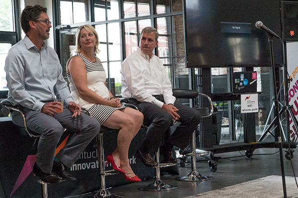 Jim Guthrie, Nancy Aichholz and Casey Barach were the event's panel speakers.