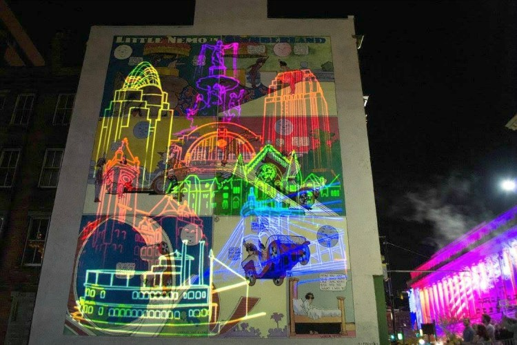 Murals and projection mapping will be shown again in 2019.